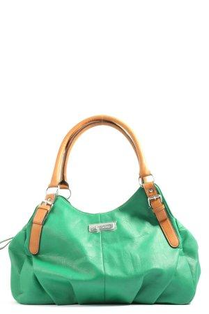 Aniston Sac Baril vert-orange clair style décontracté