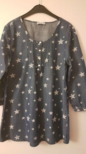 Aniston Jeans blouse wit-blauw