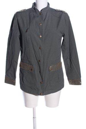 Aniston Veste en jean gris clair style décontracté