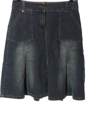 Aniston Gonna di jeans blu stile casual