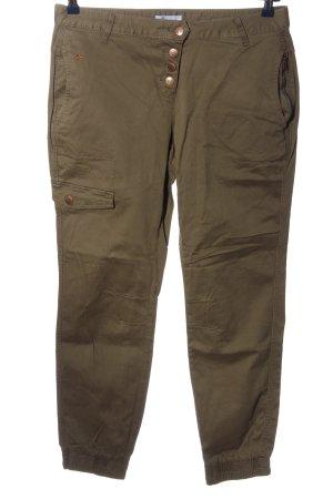 Aniston Pantalon kaki bronze style décontracté