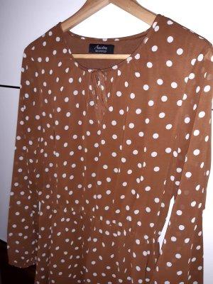Aniston Sukienka midi cognac-biały Poliester