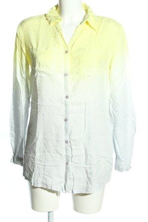 Aniston Langarm-Bluse blassgelb-weiß Farbverlauf Casual-Look