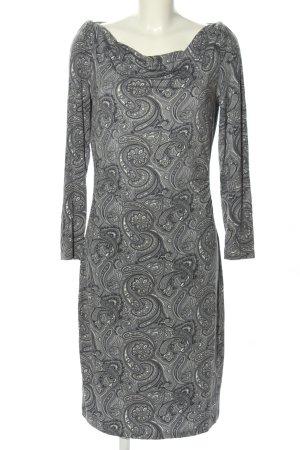 Aniston Langarmkleid hellgrau abstraktes Muster Casual-Look