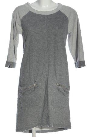 Aniston Robe à manches longues gris clair moucheté style décontracté