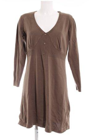 Aniston Robe à manches longues gris brun style décontracté
