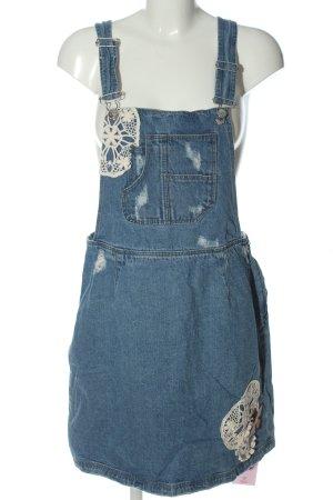 Aniston Overgooier overall rok blauw casual uitstraling