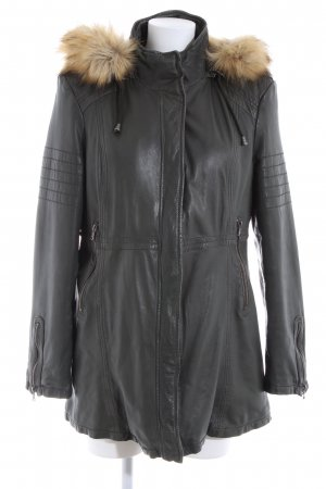 Aniston Leather Coat black business style