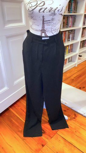 Aniston lockere Bundfaltenhose mit Reißverschlüsse für Beinschlitze Casual schwarz Gr. 38