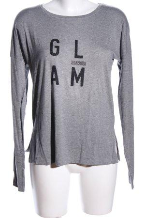 Aniston Koszulka z długim rękawem jasnoszary Melanżowy W stylu casual