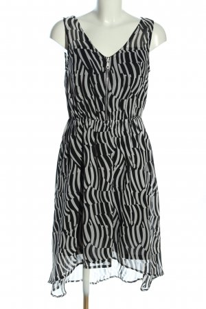 Aniston Midi Dress black-white abstract pattern elegant