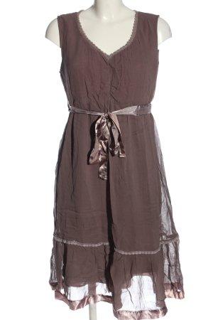 Aniston Midi-jurk bruin casual uitstraling
