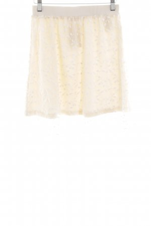Aniston Miniskirt cream-white flower pattern casual look