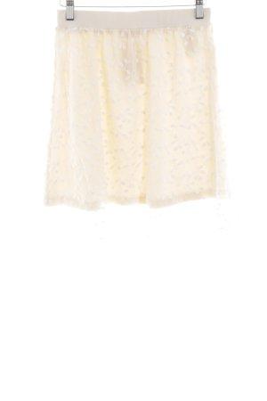 Aniston Mini-jupe crème-blanc motif de fleur style décontracté