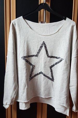 Aniston Sweatshirt grijs-licht beige