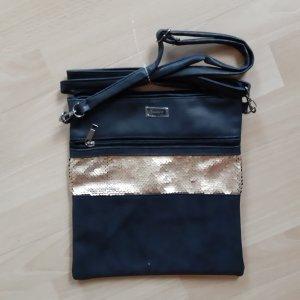 Aniston Shoulder Bag black-gold-colored