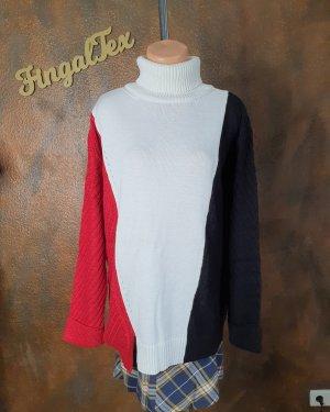 Aniston Długi sweter biały-czarny