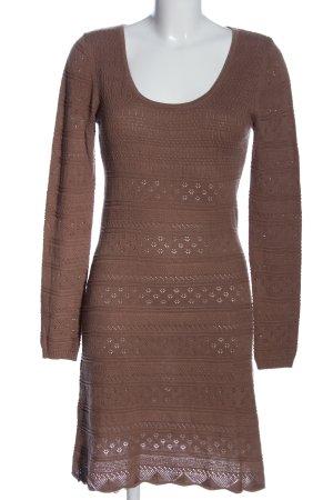 Aniston Swetrowa sukienka brązowy W stylu casual