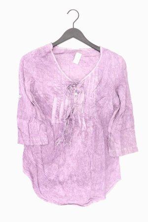 Aniston Ruffled Blouse lilac-mauve-purple-dark violet cotton