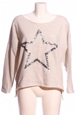 Aniston Maglione girocollo crema puntinato stile casual