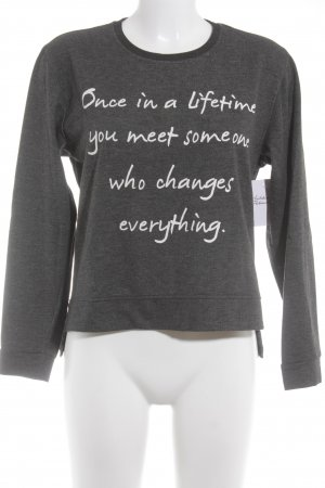 Aniston Crewneck Sweater dark grey-white casual look
