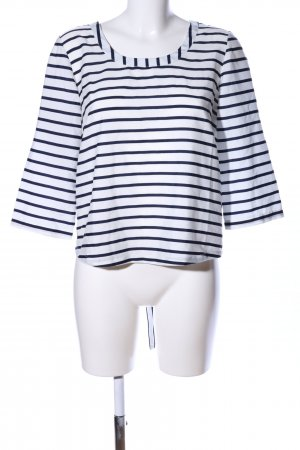 Aniston Slip-over blouse wit-blauw gestreept patroon casual uitstraling