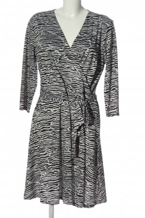 Aniston Selected A Line Dress black-natural white animal pattern casual look