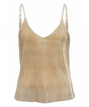 Aniston Strappy Top gold-colored polyester