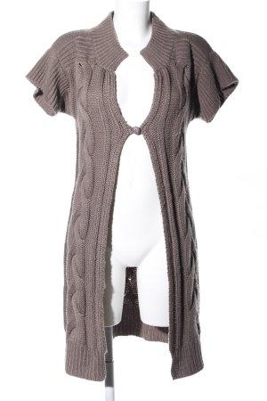Aniston Sweter z dzianiny brązowy Warkoczowy wzór W stylu casual