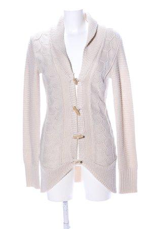 Aniston Veste en tricot blanc cassé torsades style décontracté