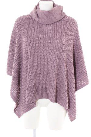 Aniston Poncho en tricot rose torsades style décontracté