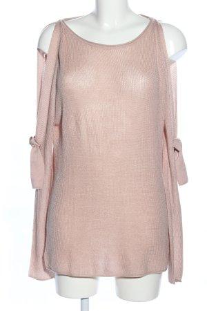 Aniston Pull tricoté crème style décontracté