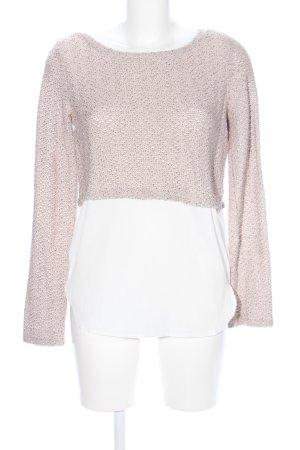 Aniston Strickpullover pink-weiß meliert Casual-Look