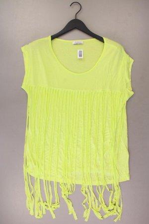 Aniston T-Shirt Größe 44 Kurzarm gelb aus Viskose