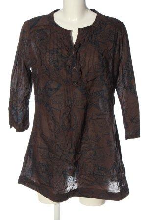 Aniston Tunique-blouse brun-bleu imprimé allover style décontracté