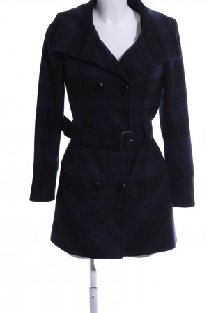 Aniston Between-Seasons-Coat blue-black check pattern business style