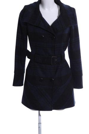 Aniston Übergangsmantel blau-schwarz Karomuster Business-Look