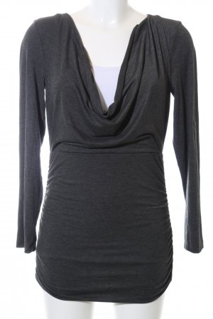 Aniston Cowl-Neck Shirt black flecked casual look