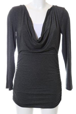Aniston Koszulka z dekoltem woda czarny Melanżowy W stylu casual