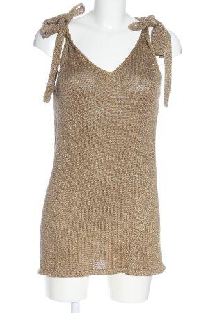 anita di. Crochet Top bronze-colored casual look