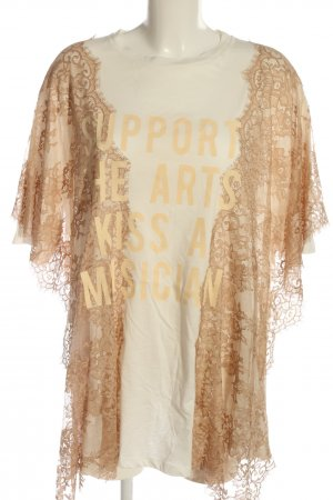 Aniye By Lace Blouse natural white-brown printed lettering casual look