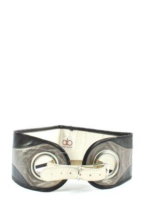 Anja Bruhn Waist Belt black-silver-colored extravagant style