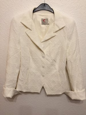 Anja Gockel Short Blazer natural white
