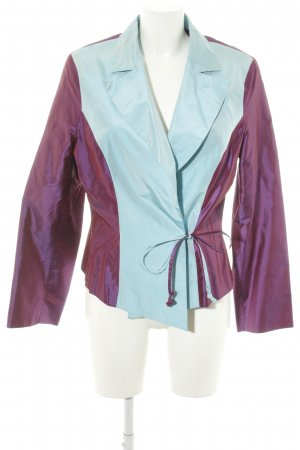 Anja Gockel Short Blazer lilac-turquoise color gradient extravagant style