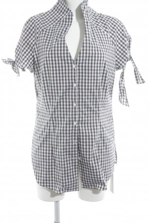 Anja Gockel Short Sleeved Blouse check pattern casual look