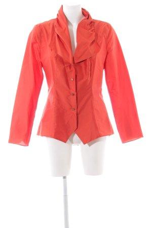 Anja Gockel Long Blazer red extravagant style