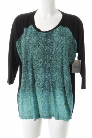 Anja Gockel Haut long noir-turquoise Fixation de logo (métallique)
