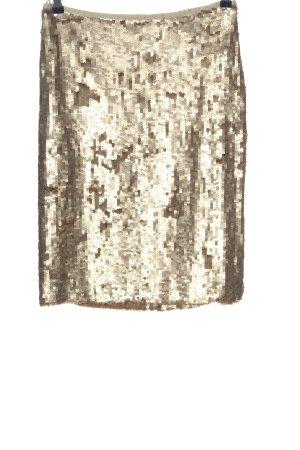 Anja Gockel Mini-jupe doré style décontracté