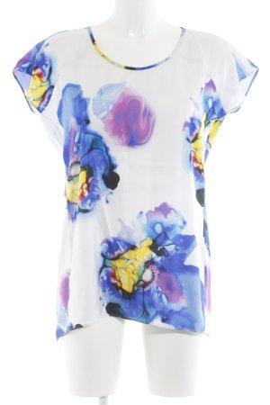 Anja Gockel Zijden blouse abstract patroon casual uitstraling