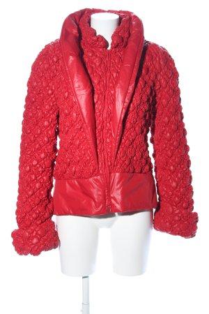 Anja Gockel Gewatteerd jack rood extravagante stijl